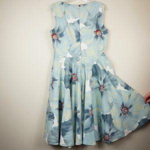 Emily Hallman Dresses - Emily Hallman Millie Dress Blue White Red Floral
